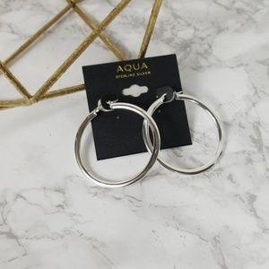 Aqua Jewelry - Aqua Sterling Silver Hoop Earring